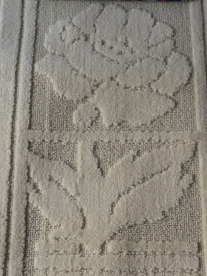 Tappeto bagno 3 pezzi antiscivolo,col.panna Art.A509