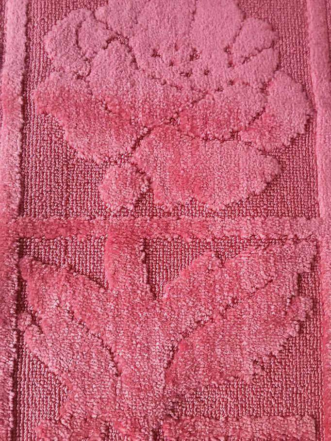Tappeto bagno rettangolare antiscivolo,col.rosa Art.A510