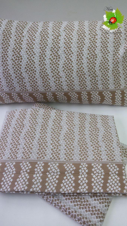 Completo lenzuola di flanella Matrimoniale Angels-Line. Col.Beige.B171