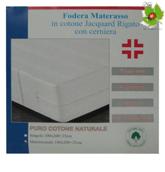 Fodera di Materasso Jacquard singolo con cerniera 100x200+25cm Art.A091