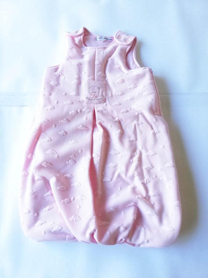Baby sacco per neonati in cotone ricamato T&R baby. Col.Rosa. C073