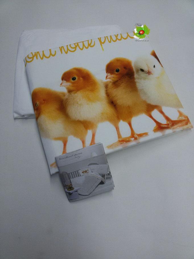 Completo lenzuola baby digitale lettino culla Art.Pulcini..Art.A335