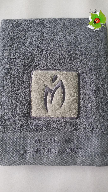Asciugamano Marta Marzotto 1+1 asciugamano viso e ospite . Col.Grigio scuro.B187