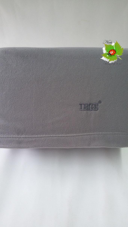 Completo lenzuola  Irge in soffice pile singolo in tinta unita. Art. Col.Grigio.B244
