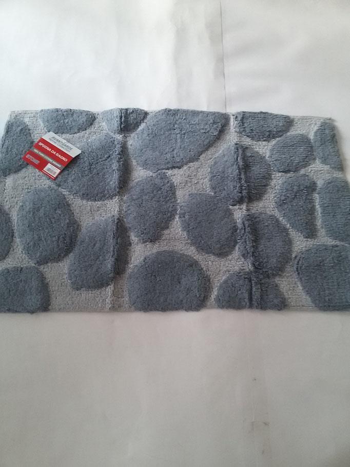 Tappeto bagno spugna di cotone 55x110 cm Grigio chiaro/Grigio scuro Art.A332