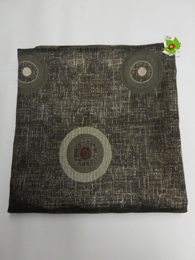 Scampolo tessuto d'amascato fantasia con cerchio 280x280 cm. Col.Nero argentato. B270