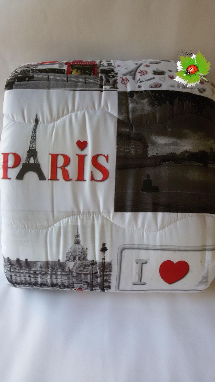 Trapunta piumone invernale Parigi con stampa digitale 4D Laura Blasi singola. A971