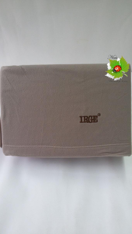 Completo lenzuola  Irge in soffice pile singolo in tinta unita. Art. Col.Fango.B244