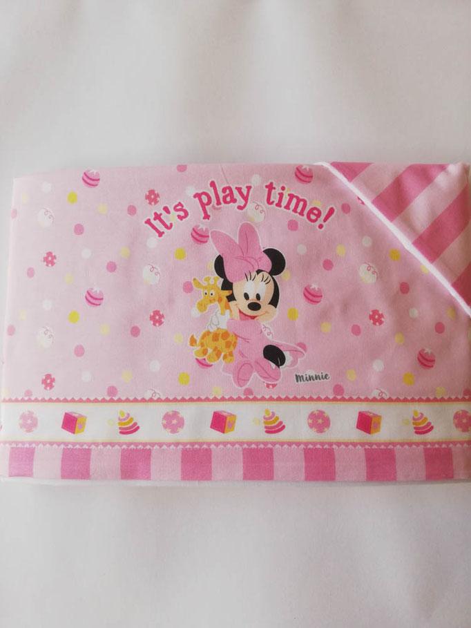 Completo lenzuola Disney baby lettino (culla) 100% cotone. Col.Rosa. C058