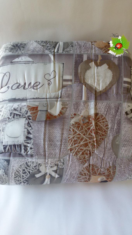 Trapunta piumone invernale Vintage con stampa digitale 4D Laura Blasi singola. A972