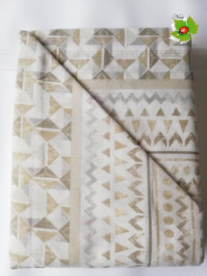Completo lenzuola di flanella una piazza e mezza Ambrosiana-collection. Art.Stefany. Col.Beige. A734