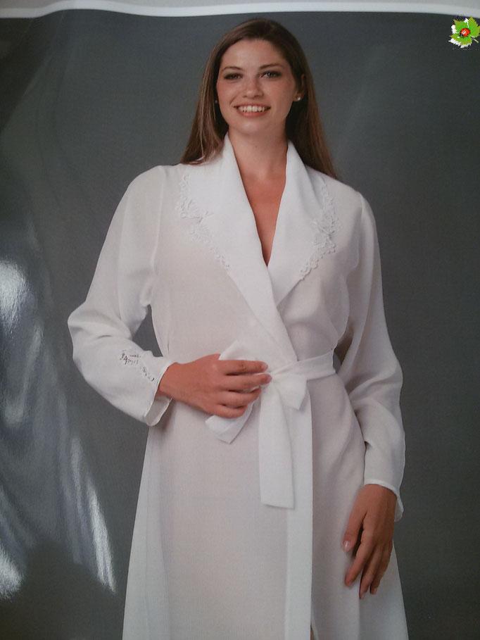 Parure 2 pezzi vestaglia e camicia da notte col.panna taglia 42 Art.A286