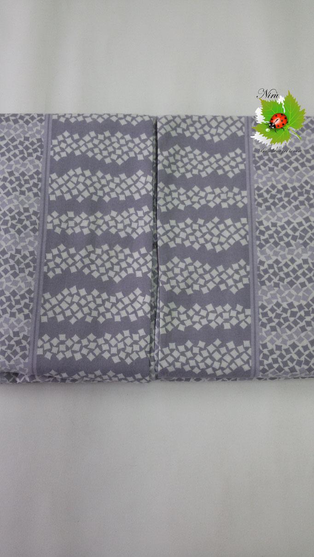 Completo lenzuola di flanella Matrimoniale Angels-Line. Col.Grigio.B171