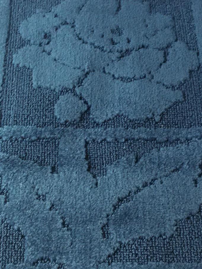 Tappeto bagno rettangolare antiscivolo,col.blu Art.A510