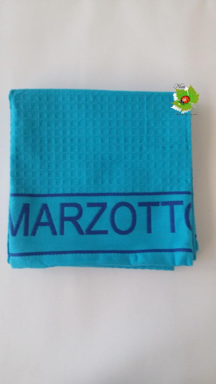 Telo mare piscina bagno a nido d'ape Marta Mazzotto 90x160 cm. Col.Azzurro Art.N155