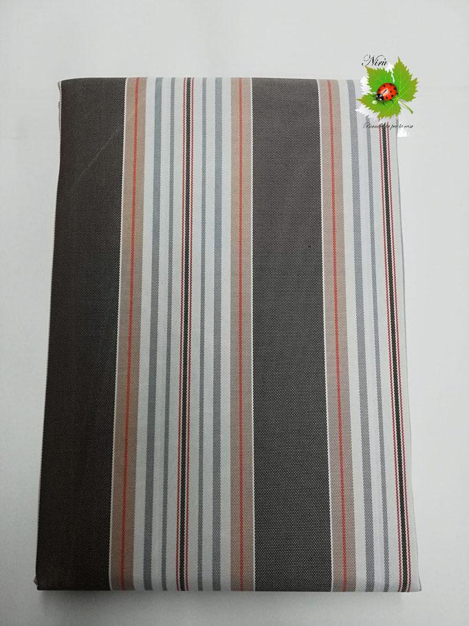 Tenda da sole con anelli 145X290 cm per esterno. Art.Stromboli. Col.Marrone. B409