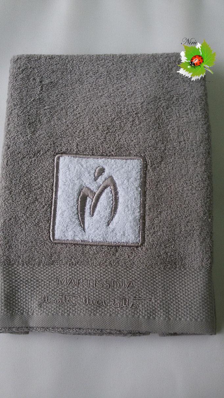 Asciugamano Marta Marzotto 1+1 asciugamano viso e ospite . Col.Grigio.B187