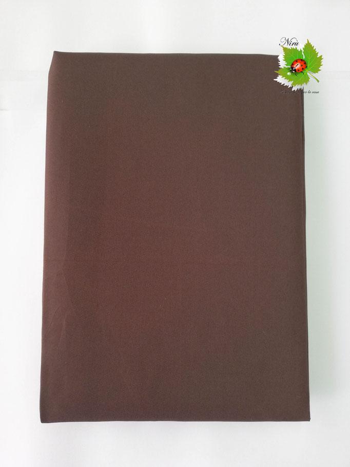 Tenda da sole con anelli tinta unita 140X300cm per esterno. Art.Caraibi. Col.Marrone. B464