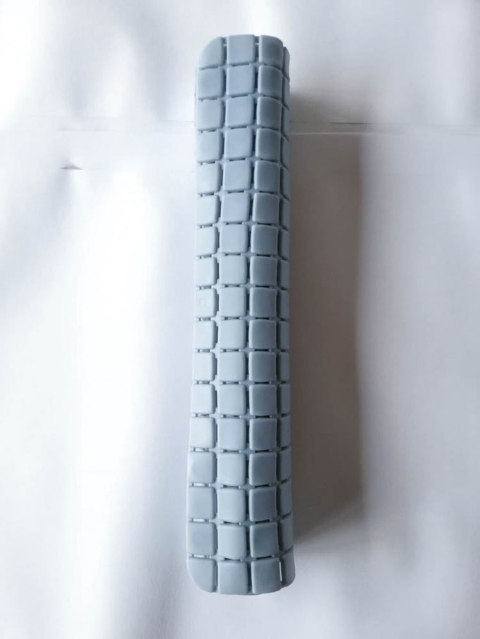 Tappeto doccia/vasca antiscivolo di forma rettangolare con quadratini tinta unita 40x70 cm. Col.Celeste. B781
