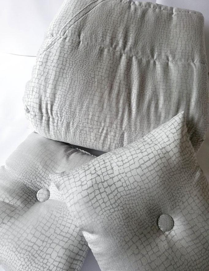 Trapunta piumone matrimoniale invernale con due cuscini El Charro. B502
