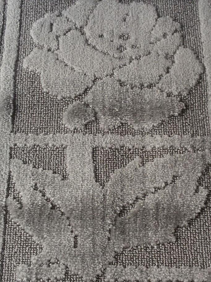 Tappeto bagno rettangolare antiscivolo,col.grigio Art.A510