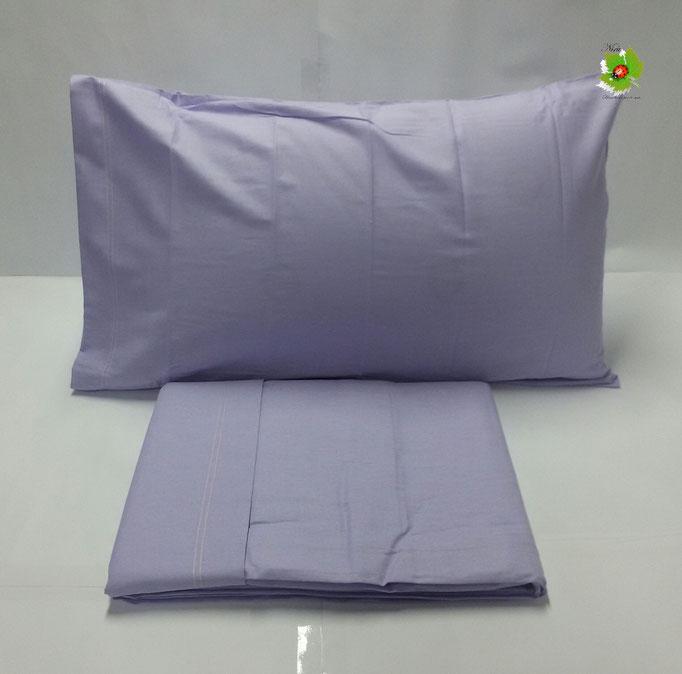 Completo lenzuola letto singolo a tinta unita Kiro Oro.Col.Lilla ART.A055