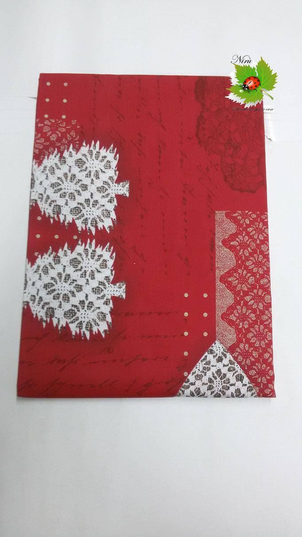 Tovaglia natalizia da 12 posti 140x240 cm. Col.Rosso.B104