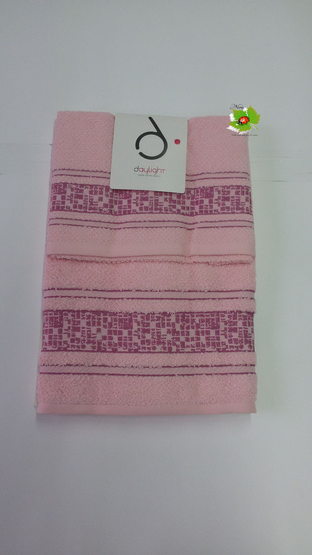 Set asciugamano 1+1 Day light/Dea Battaglia. Col. Rosa.Art.A581