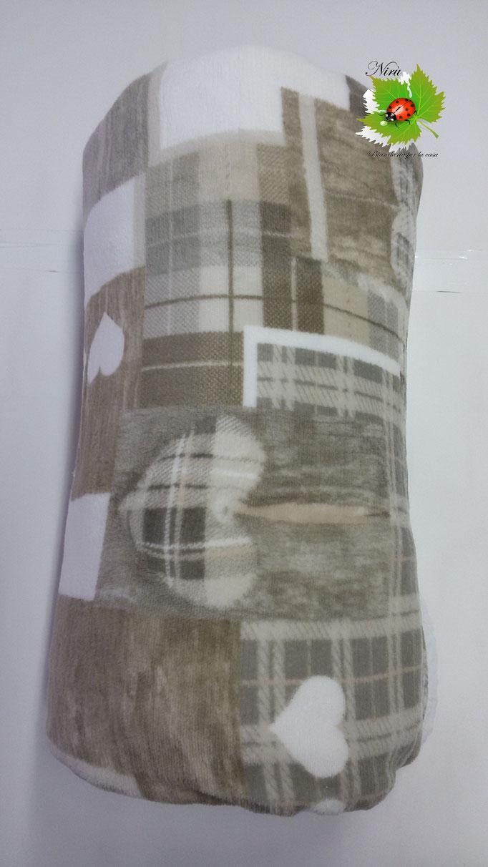 Plaid in pile agnellato caldissimo stampati matrimoniale 200x230 cm. Col.Tortora.A512