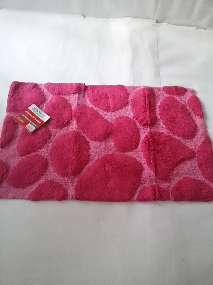 Tappeto bagno spugna di cotone 55x110 cm Rosa/Fucsia Art.A332