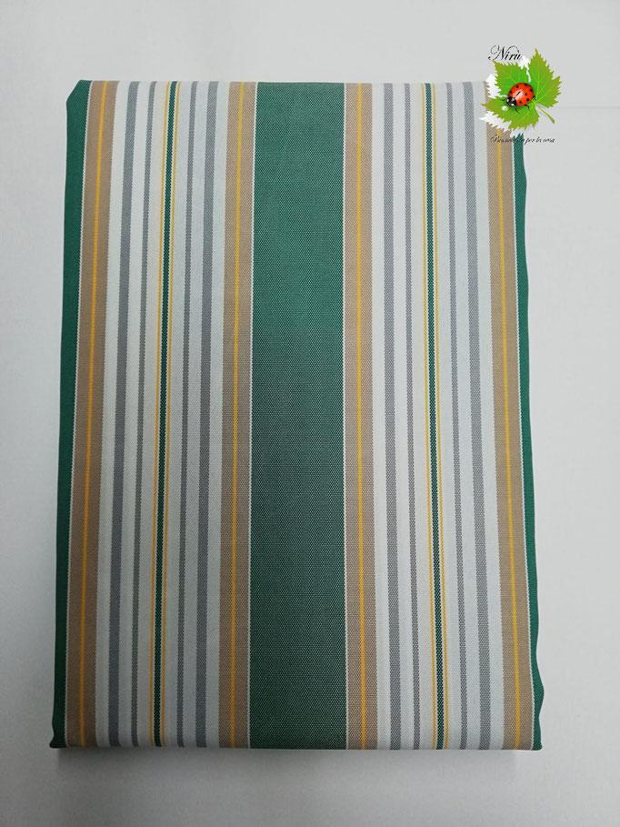 Tenda da sole con anelli 145X290 cm per esterno. Art.Stromboli. Col.Verde. B409