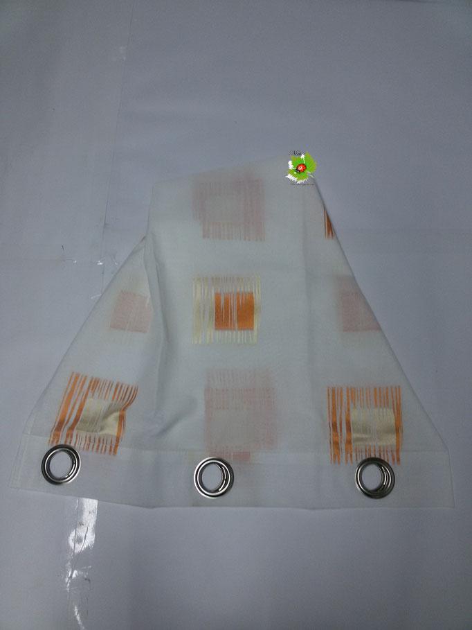 Tenda arredo casa con borchie 140x290 cm. Col.Arancio.Art.A139