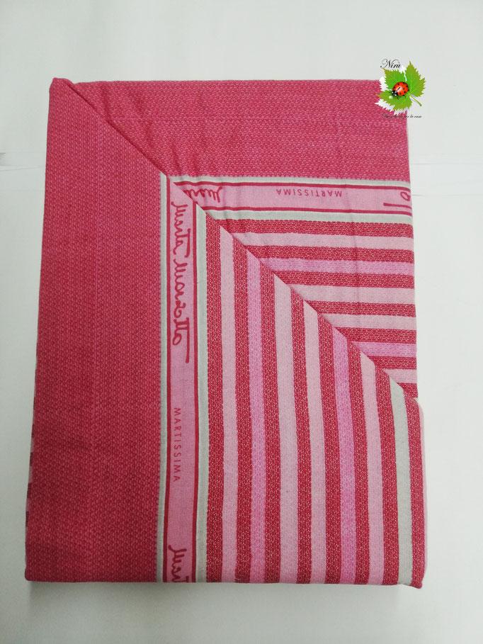 Completo lenzuola di flanella righe una piazza e mezza Marta Marzotto. Art.indios. B314