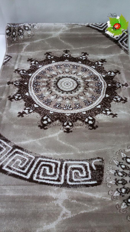 Set parure tappeto + scendiletto 3 pezzi rettangolare Lurex con disegno piazzato centrale. A928