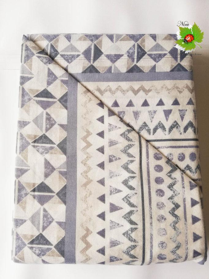 Completo lenzuola di flanella una piazza e mezza Ambrosiana-collection. Art.Stefany. Col.Blu. A734