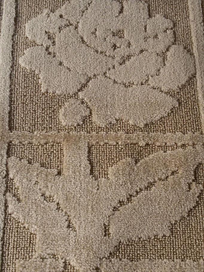 Tappeto bagno 3 pezzi antiscivolo,col.nocciola Art.A509