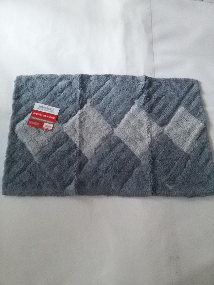 Tappeto bagno spugna di cotone 55x110 cm Grigio chiaro/Grigio scuro Art.A331