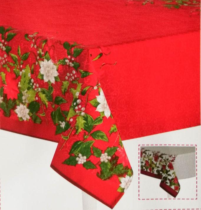 Tovaglia natalizia da 18 posti 140x360 cm. Art. Bianca.  B652