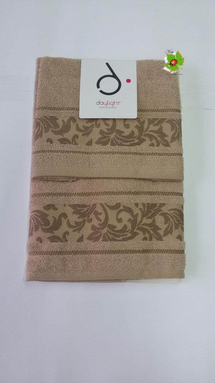 Set asciugamano 1+1 Day light/Dea Battaglia. Col. Nocciola.Art.A201