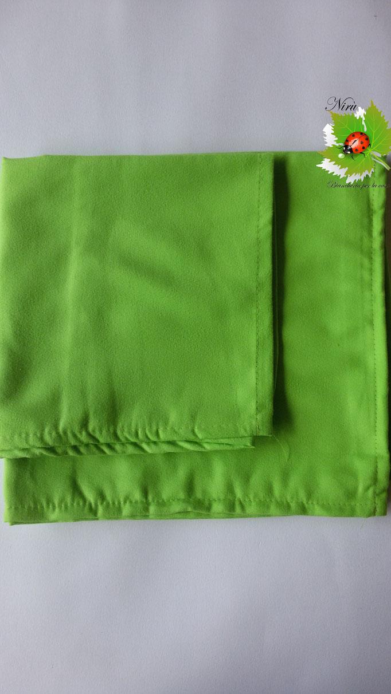 Set 1+1 asciugamano + ospite in microfibra. Col.Verde.A812
