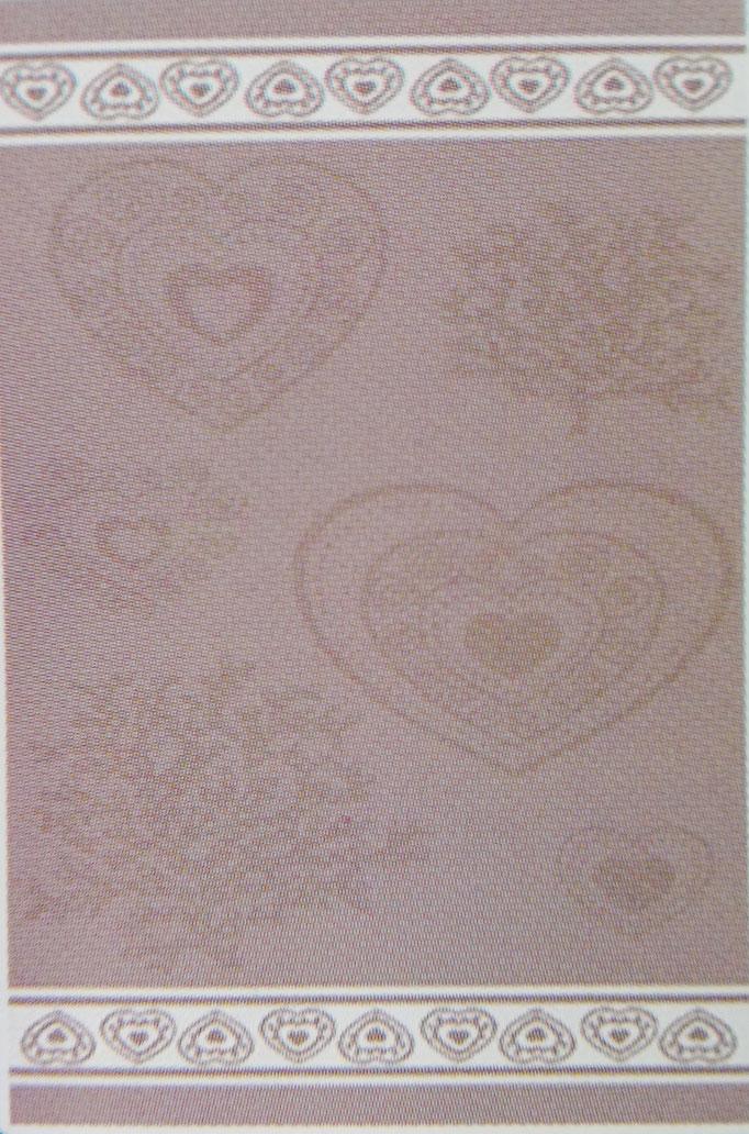 Telo mare in morbida microspugna di cotone 100% , disegno jacard con disegno cuore.  B223