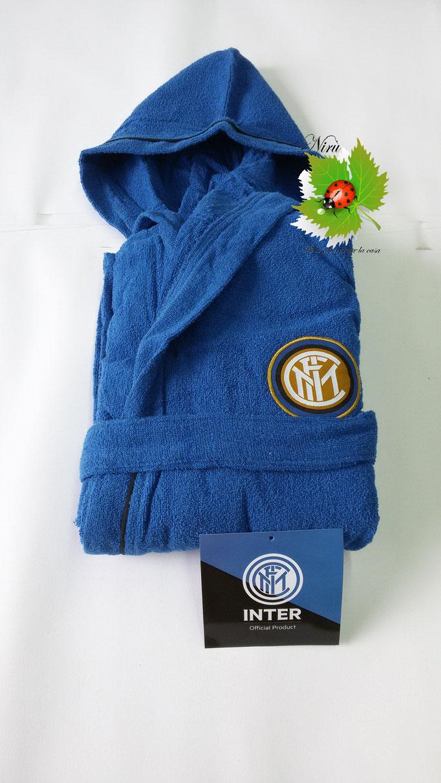 Accapatoio F.C Inter Ufficiale in microspugna per adulto salvaspazio. Taglie: M-L-XL-XXL. Art.A728