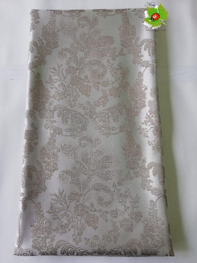 Scampolo tessuto jacquard dis. foglie 280x280 cm. Col.Fango.B236
