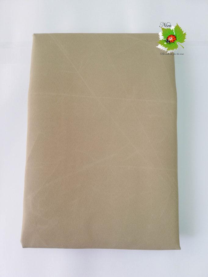 Tenda da sole con anelli tinta unita 140X300 cm per esterno. Art.Caraibi. Col.Beige. B464