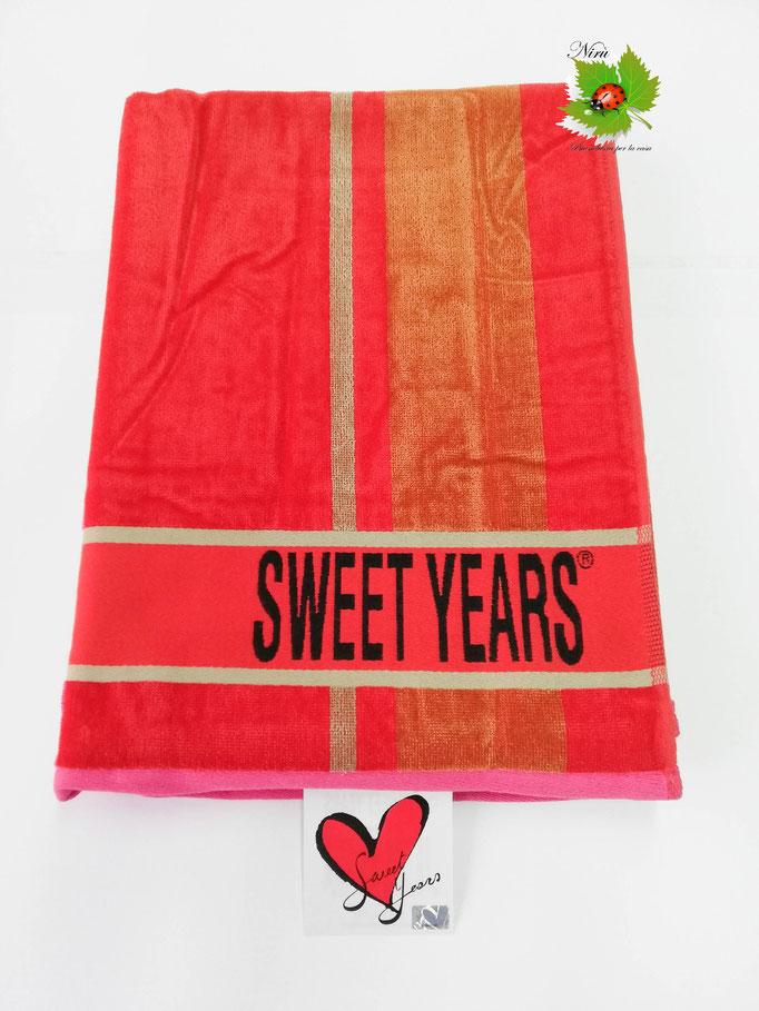 Telo mare Sweet Years con fascia larga in spugna di cotone. B469