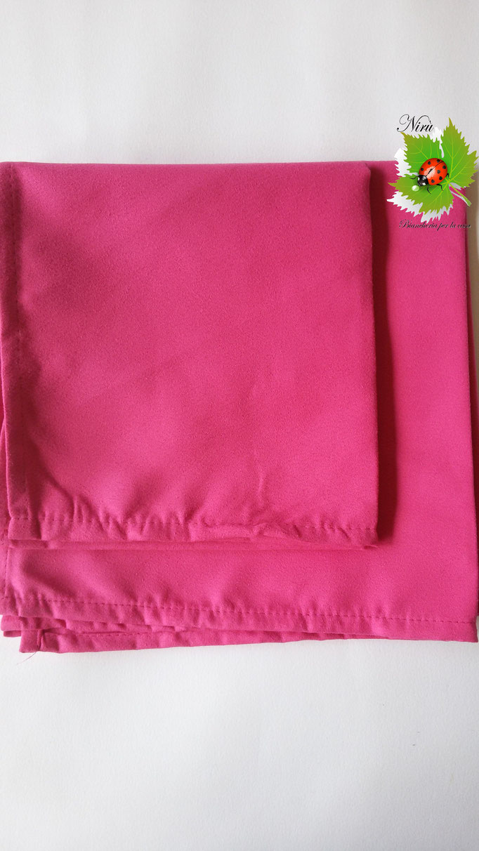 Set 1+1 asciugamano + ospite in microfibra. Col.Fucsia.A812