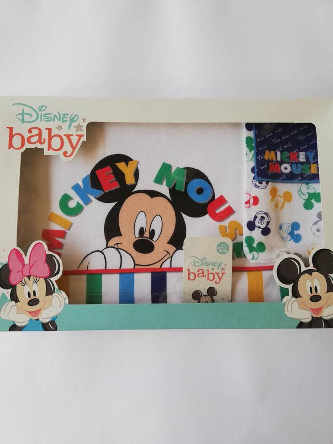 Completo lenzuola Disney baby lettino (culla) 100% cotone. Col.Celeste. C057
