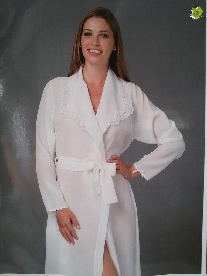 Parure 2 pezzi vestaglia e camicia da notte panna taglia 42. Art.A287