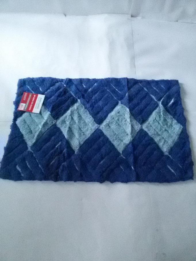 Tappeto bagno spugna di cotone 55x110 cm Celeste/Blu Art.A331