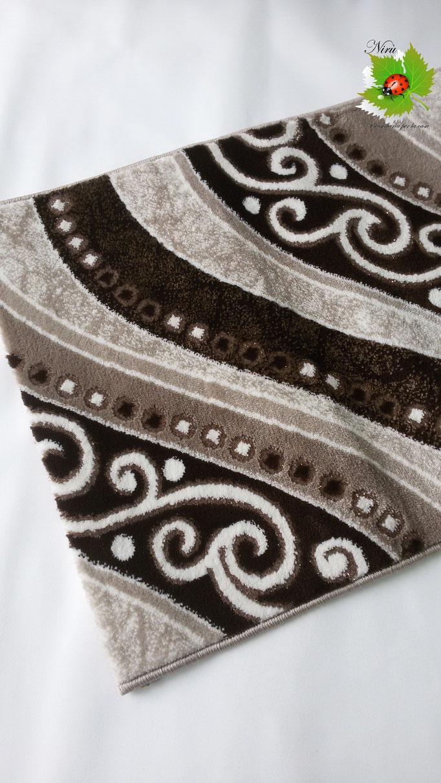 Tappeto moderno Lurex rettangolare 100x150 cm con disegno ondulare. B167